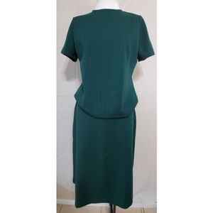 LeRoy Knitwear Dark Green Skirt Set